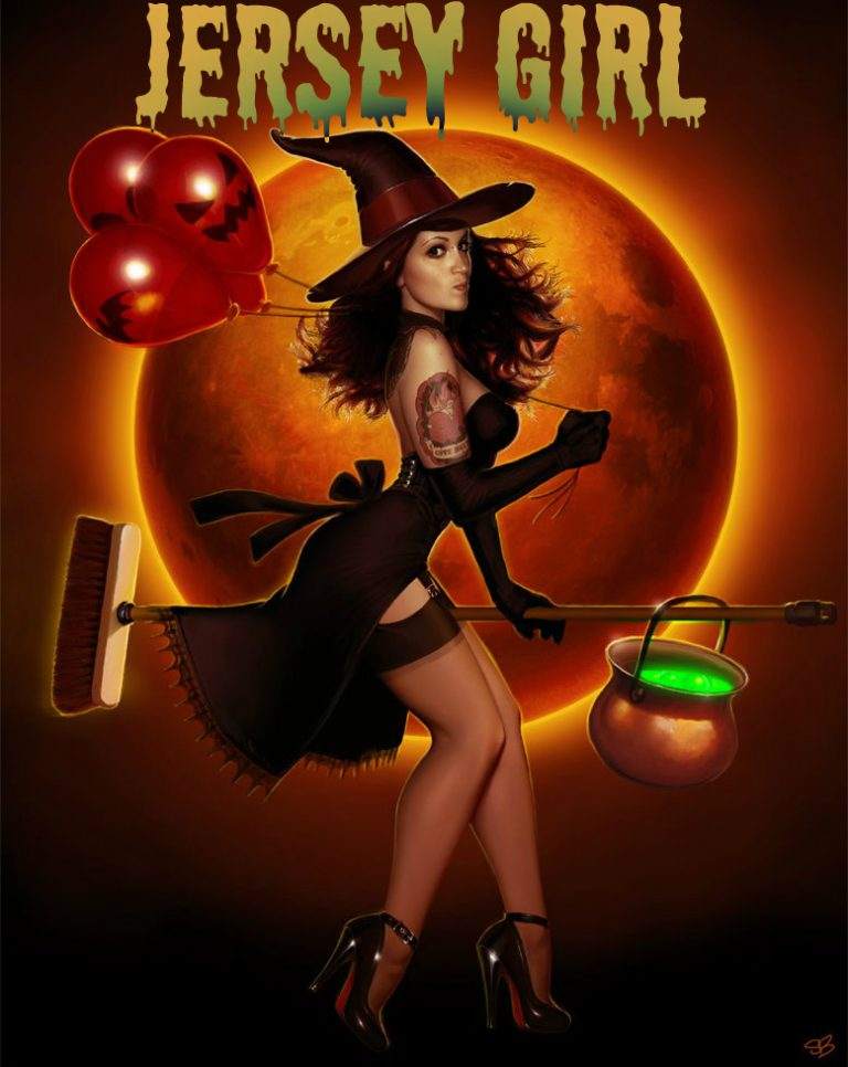 Jersey Girl Halloween Witch