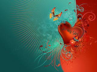 JERSEY GIRL HEART BUTTERFLY DESIGN