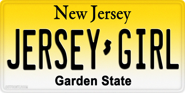 Jersey Girl License Plate
