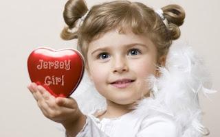 LITTLE JERSEY GIRL HOLDING HEART