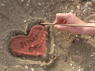 JERSEY GIRL DRAW SAND HEART