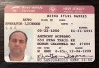 Anthony Soprano New Jersey Drivers License