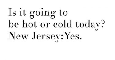 How is the weather in New Jersey Today?