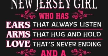 And God said Let There be a New Jersey Girl