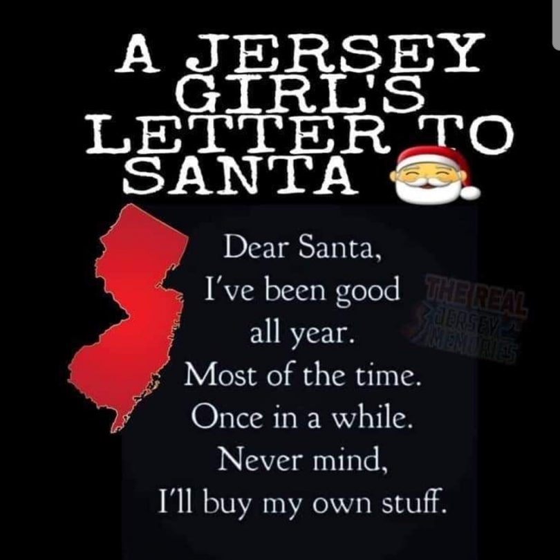 A Jersey Girls Letter to Santa